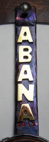 Brass ABANA letters