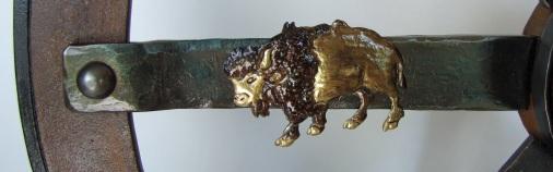 Brass buffalo spoke by Joe Gentile