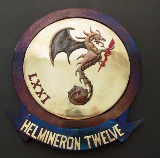 HM-12 Squadron plaque