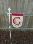 Yard flag holder
