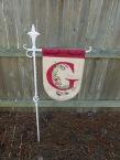 Yard flag holder