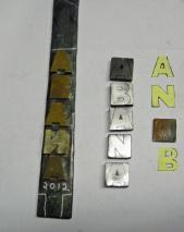 rough cut ABANA letters