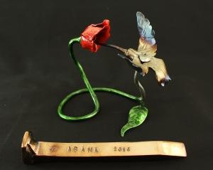 Railroad spike flower hummingbird