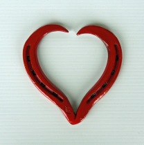 Red horseshoe heart
